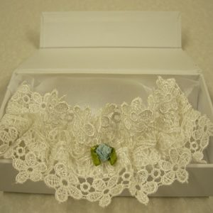 Beaded Hearts Bride's Garter - Hand Decorated-0