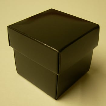 Black (Gloss) Favour Box with Lid-0