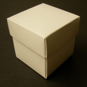 White Matt Favour Box with Lid-0