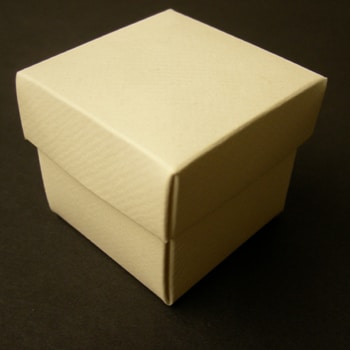 Ivory Textured Favour Box with Lid-0