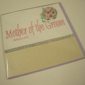 Handmade Thank You Card - Mother of the Groom-0