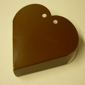 Chocolate Brown Heart Favour Box-0