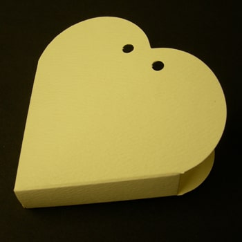 Ivory Textured Heart Favour Box-0