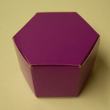 Purple Hexagon Favour Box-0
