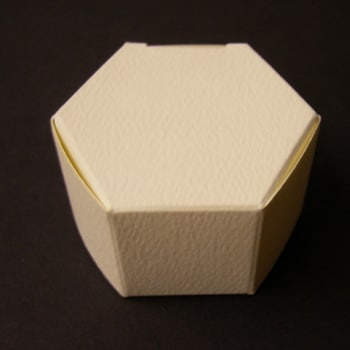 Ivory Textured Hexagon Favour Box-0