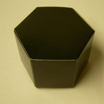 Black Hexagon Favour Box-0