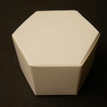 White Hexagon Favour Box-0