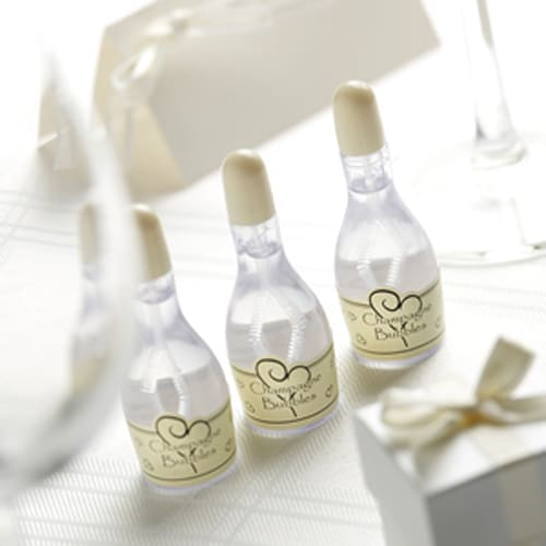 Ivory Champagne Bottle Bubbles with Ivory Cap - Various Pack Sizes-0