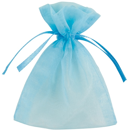 Light Blue Organza Bags 7cm x 9cm - Packs of 10/50/100-0