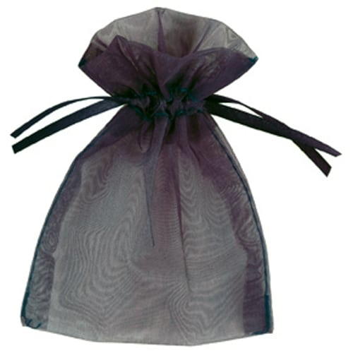 Black Organza Bags 7cm x 9cm - Packs of 10/50/100-0