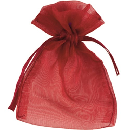 Burgundy Organza Bags 7cm x 9cm - Packs of 10/50/100-0