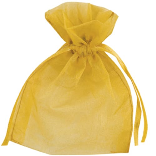 Gold Organza Bags 7cm x 9cm - Packs of 10/50/100-0