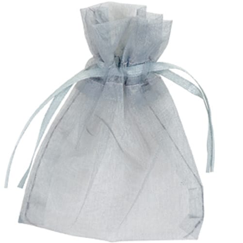 Silver Organza Bags 7cm x 9cm - Packs of 10/50/100-0
