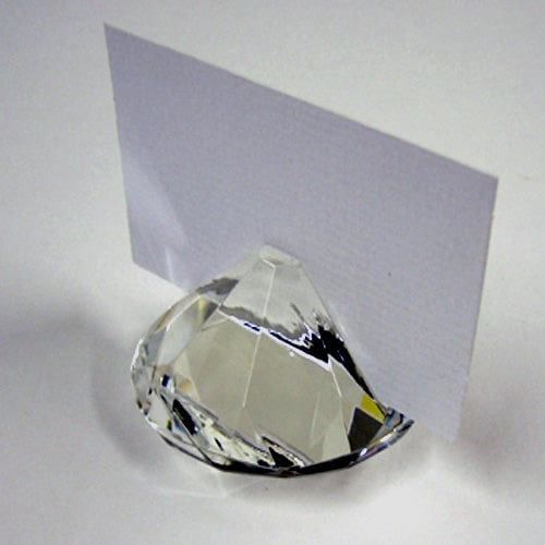 Crystal Glass Place Card Holder -0