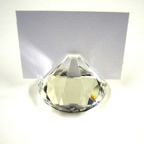 Crystal Glass Place Card Holder -2365