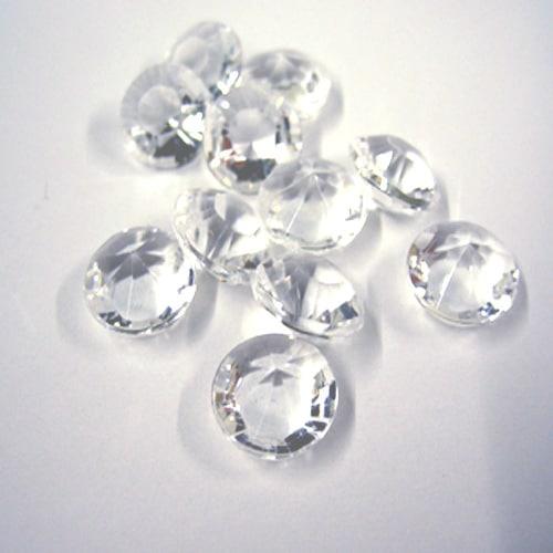 Clear Table Diamond Crystals 10mm - 4 carat - Packs of 100/300/500-0