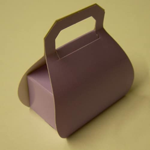 Lilac Handbag Favour Box - Can be Personalised-0