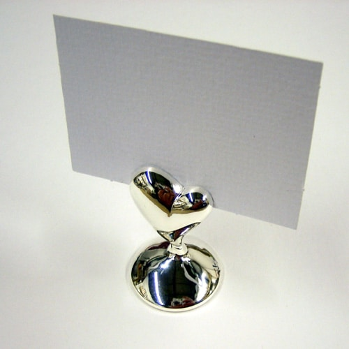 Chrome Heart Place Card Holder-0