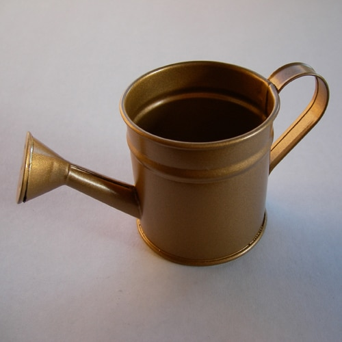 Mini Watering Can - Metal Favour Container in Gold Colour-0