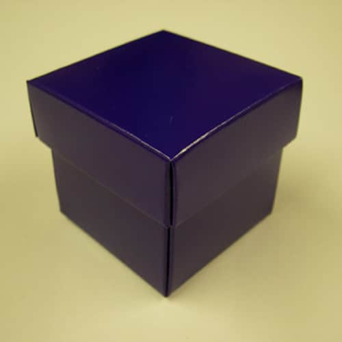 Purple Favour Box with Lid - Can Be Personalised-0