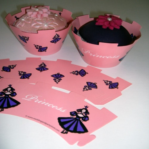 Princess Cupcake Wrappers - Pack of 12-0