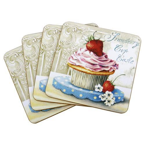Strawberry Cupcake Coasters - Set of 4-0
