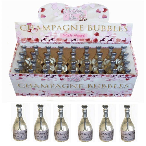 Wedding Time Silver Champagne Bottle Bubbles - Various Pack Sizes-2222