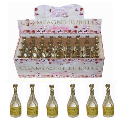 Wedding Time Gold Champagne Bottle Bubbles - Various Pack Sizes-2224