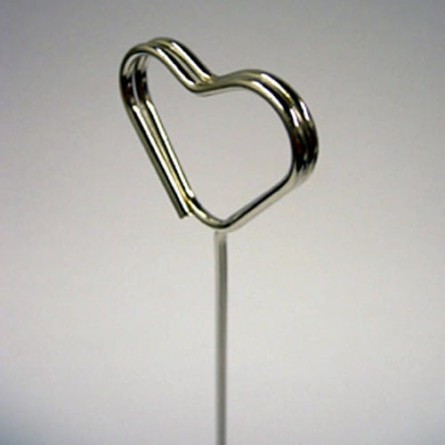 Chrome Heart Swirl Table Number Holders - Choice of Pack Size-2228