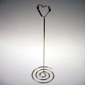 Chrome Heart Swirl Table Number Holders - Choice of Pack Size-0