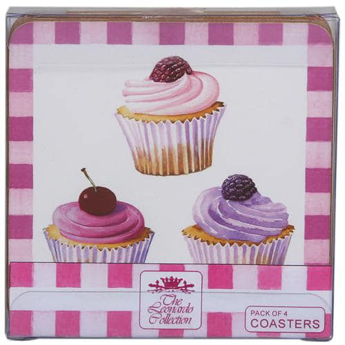 Cupcakes Coasters - in a Pack of 4 -0