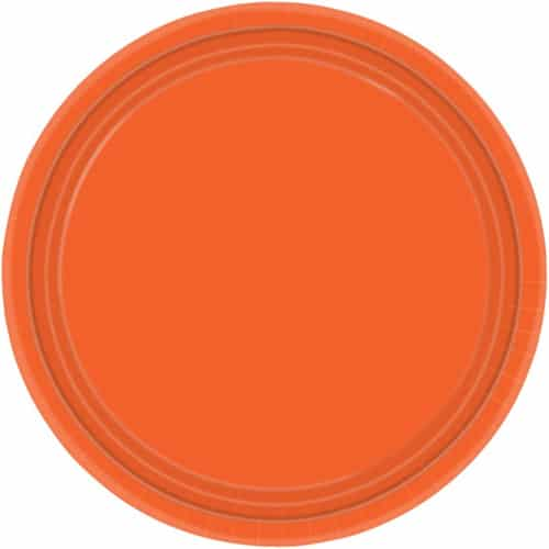 """9"""" Orange Paper Plates in Pack of 8 -0"""