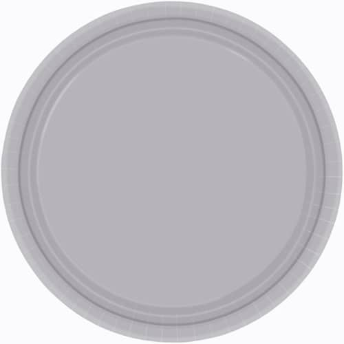 "9"" Silver Paper Plates in a Pack of 8-0"