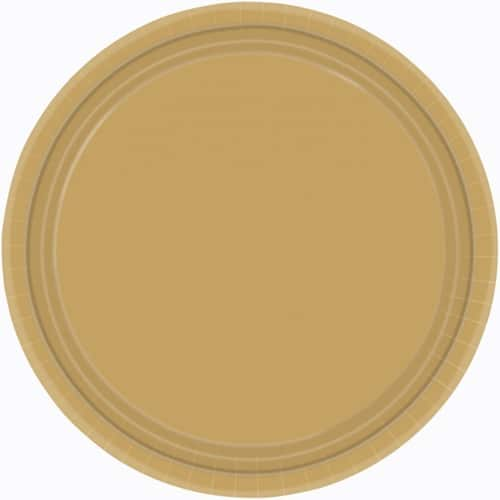 "9"" Gold Paper Plates in Pack of 8 -0"