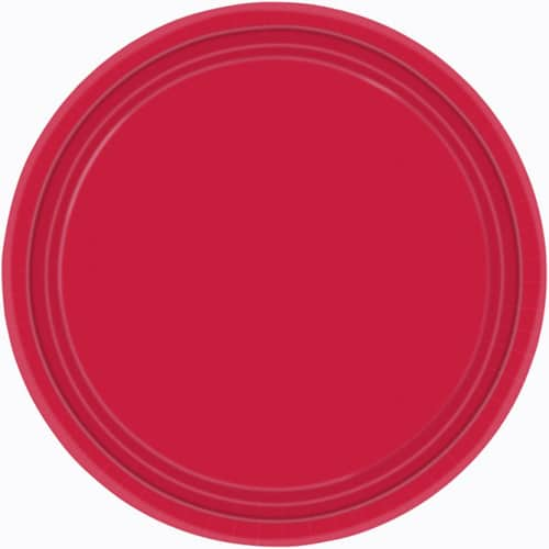 """9"""" Red Paper Plates in Pack of 8-0"""