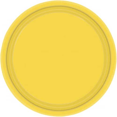 """9"""" Yellow Paper Plates in Pack of 8 -0"""