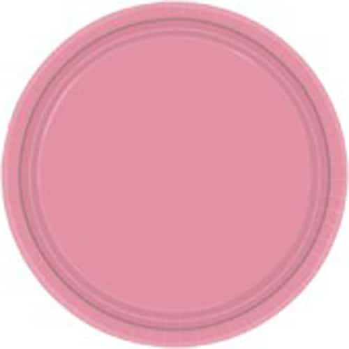 "9"" Pretty Pink Paper Plates in Pack of 8-0"