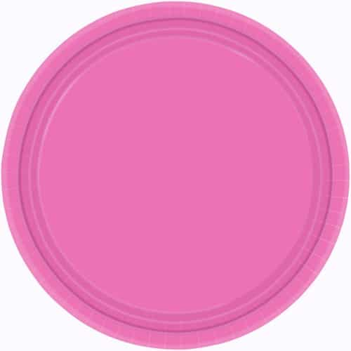 "9"" Magenta Paper Plates in Pack of 8-0"