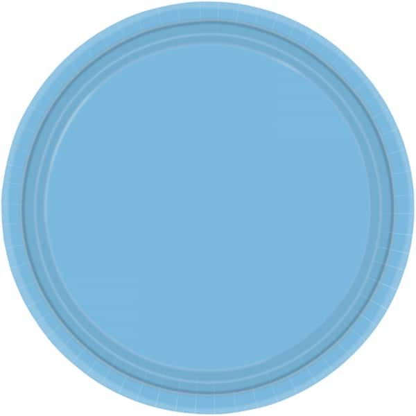 "9"" Powder Blue Paper Plates in Packs of 8-0"