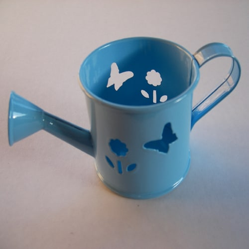 Mini Watering Can - Baby Blue with Butterfly and Flower Cut-Outs-0