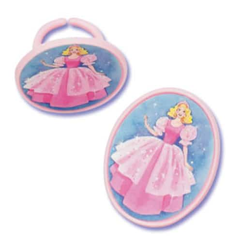 Princess Rings Cake Decoration and Gift - Pack of 6-0