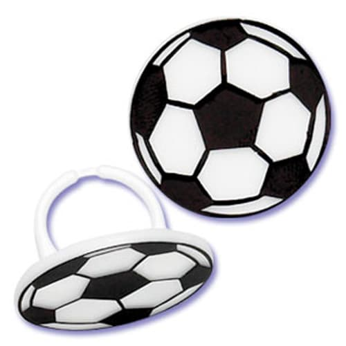 Football Rings Cake Decoration and Gift - Pack of 6-0