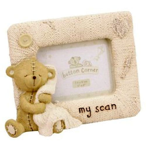 Button Corner Baby Scan Photo Frame-0