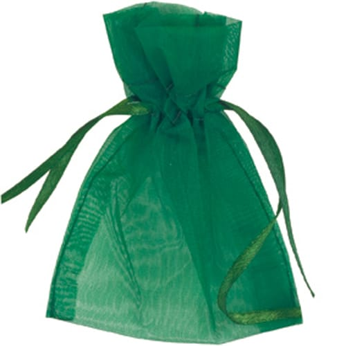 Green Organza Bags 7cm x 9cm - Packs of 10/50/100-0