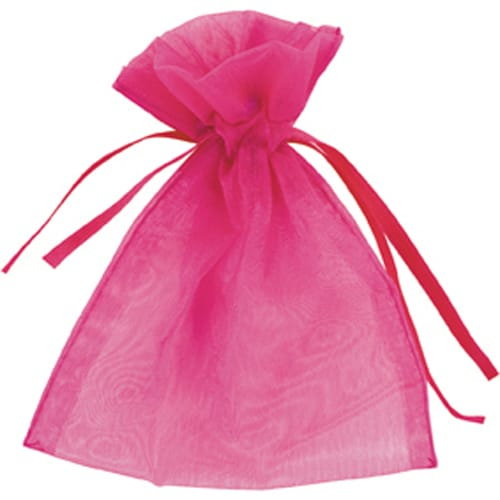 Hot Pink Organza Bags 7cm x 9cm - Packs of 10/50/100-0