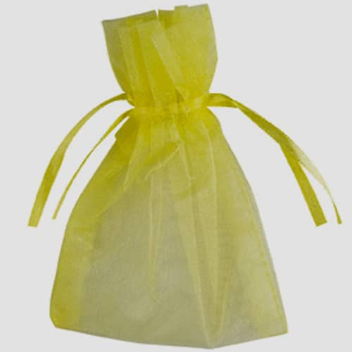 Lime Organza Bags 7cm x 9cm - Packs of 10/50/100-0