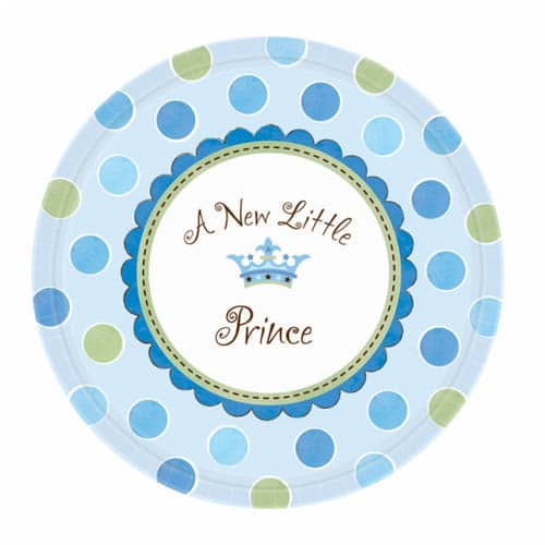 "Little Prince 7"" Round Paper Plates - Pack of 8 -0"