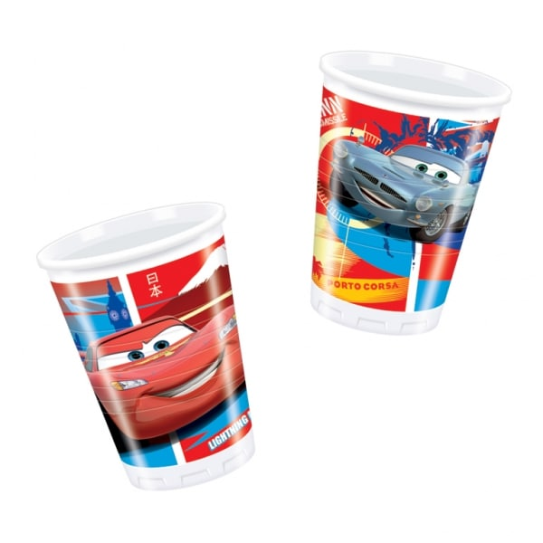 Disney Cars Plastic Cups 180ml - Pack of 10-0
