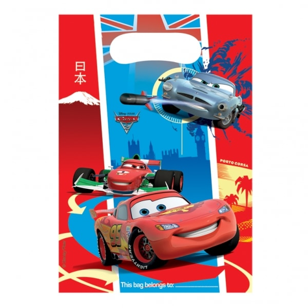 Disney Cars Plastic Loot Bags - Pack of 6-0