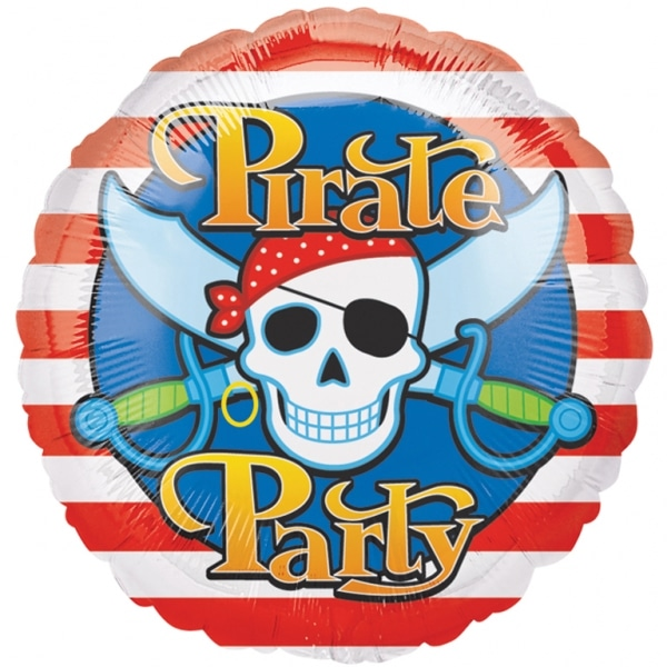 "Pirate Party Foil Balloon 5 PC - 18""/45cm-0"